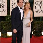 Jon Hamm and Jennifer Westfeldt at the Golden Globes 2011 76945
