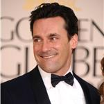 Jon Hamm and Jennifer Westfeldt at the Golden Globes 2011 76947