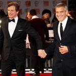 Colin Firth and George Clooney at the 2012 BAFTAs 105955