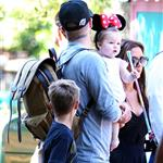 David and Victoria Beckham take Harper Seven and their boys to Disneyland 116783