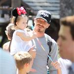 David and Victoria Beckham take Harper Seven and their boys to Disneyland 116786