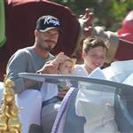 David and Victoria Beckham take Harper Seven and their boys to Disneyland 116789