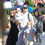 David and Victoria Beckham take Harper Seven and their boys to Disneyland 116790