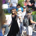 David and Victoria Beckham take Harper Seven and their boys to Disneyland 116791