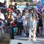 David and Victoria Beckham take Harper Seven and their boys to Disneyland 116792