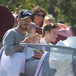 David and Victoria Beckham take Harper Seven and their boys to Disneyland 116793