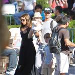 David and Victoria Beckham take Harper Seven and their boys to Disneyland 116794
