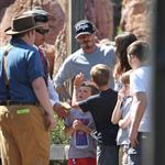David and Victoria Beckham take Harper Seven and their boys to Disneyland 116796