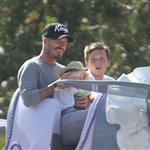 David and Victoria Beckham take Harper Seven and their boys to Disneyland 116799
