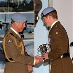 Prince Harry at his army pilot graduation with Chelsy Davy  60566