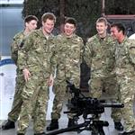 Prince Harry at RAF Honington meeting up with Afghanistan veterans  105412