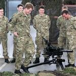 Prince Harry at RAF Honington meeting up with Afghanistan veterans  105420