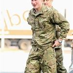 Prince Harry at RAF Honington meeting up with Afghanistan veterans  105423