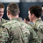 Prince Harry at RAF Honington meeting up with Afghanistan veterans  105426