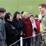 Prince Harry at RAF Honington meeting up with Afghanistan veterans  105431