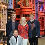 Rupert Grint, Warwick Davis, Tom Felton and Evanna Lynch at a Photo call at the worldwide Grand Opening cast and crew junket for the opening of Warner Bros. Studio Tour London - The Making of Harry Potter at Leavesden Studios 110101