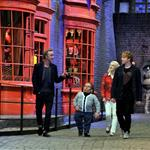 Rupert Grint, Warwick Davis, Tom Felton and Evanna Lynch at a Photo call at the worldwide Grand Opening cast and crew junket for the opening of Warner Bros. Studio Tour London - The Making of Harry Potter at Leavesden Studios 110103