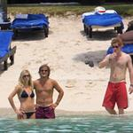 Prince Harry on the beach with pouty Chelsy Davy in a bikini in Mauritius  29753