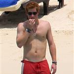 Prince Harry on the beach with pouty Chelsy Davy in a bikini in Mauritius  29755