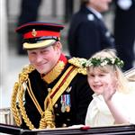 Prince Harry with wedding children during the procession  84626