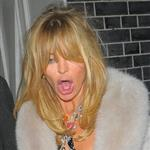 Goldie Hawn pictured leaving the Annabels members club after 4.30 am in London 108423