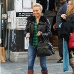 Hayden Panettiere gets a tattoo at the Wooster Street Social Club in NYC 100846