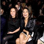 Hayden Panettiere sits with Ed Westwick and Rosario Dawson at the Tommy Hilfiger show during NY Fashion Week 55408