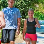 Hayden Panettiere out for a run with Harry Morton 45788