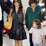 Salma Hayek and daughter arrive in Toronto for TIFF 2011 93867
