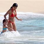 Salma Hayek in St Barts with Valentina  75910