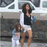 Salma Hayek in St Barts with Valentina  75917