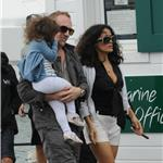 Salma Hayek in St Barts with Valentina and husband Francois 75920