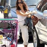 Salma Hayek Francois Henri Pinault with Valentina in West Hollywood July 2011 88976