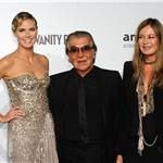 Heidi Klum with Roberto Cavalli at Milan Fashion Week AMFAR gala 69645