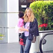 Heidi Klum and Seal out with their children on January 7th 103561