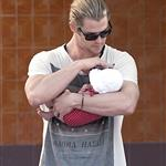 Chris Hemsworth out in Madrid with his mother-in-law and baby India  119520