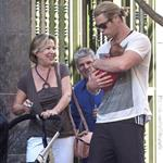 Chris Hemsworth out in Madrid with his mother-in-law and baby India  119521