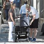 Chris Hemsworth out in Madrid with his mother-in-law and baby India  119527