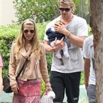 Chris Hemsworth out in Santa Monica with Elsa Pataky and baby India  120458