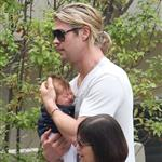 Chris Hemsworth out in Santa Monica with Elsa Pataky and baby India  120461