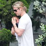Chris Hemsworth out in Santa Monica with Elsa Pataky and baby India  120463