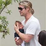 Chris Hemsworth out in Santa Monica with Elsa Pataky and baby India  120464
