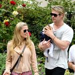 Chris Hemsworth out in Santa Monica with Elsa Pataky and baby India  120467