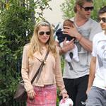 Chris Hemsworth out in Santa Monica with Elsa Pataky and baby India  120469