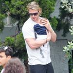 Chris Hemsworth out in Santa Monica with Elsa Pataky and baby India  120474