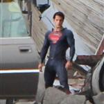 Henry Cavill in tight Superman suit shooting in Plano, Illinois 93025