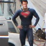 Henry Cavill in tight Superman suit shooting in Plano, Illinois 93031