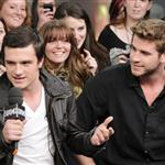 Josh Hutcherson and Liam Hemsworth appear on MuchMusic's NEW.MUSIC.LIVE. in Toronto 109329