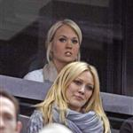 Hilary Duff and Carrie Underwood watch Ottawa Senators game 34777