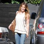 Hilary Duff leaves hair salon 69796